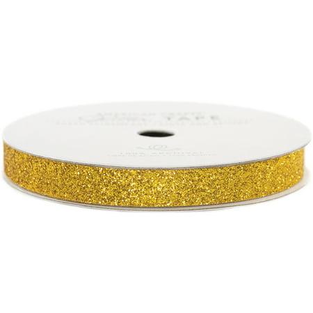 Gold Glitter Tape (American Crafts Glitter Paper Tape 3yd-Gold)