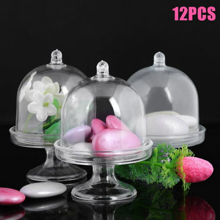 Candy Stand For Party (Mini Cake Stand Cupcake Box Plastic Candy Box Wedding Party Supplies)