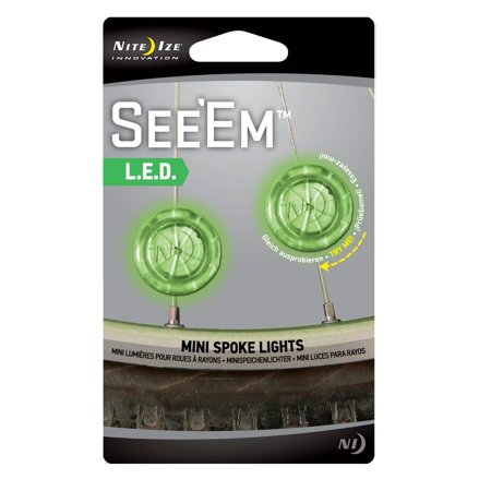 Nite Ize See'Ems LED Mini Spoke Wheel Light 2-piece Color:Green Size:Pack of 2