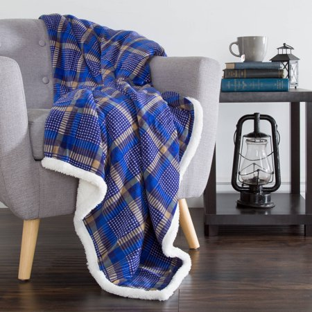 Sh Fleece Sherpa Blanket Throw Walmart Com