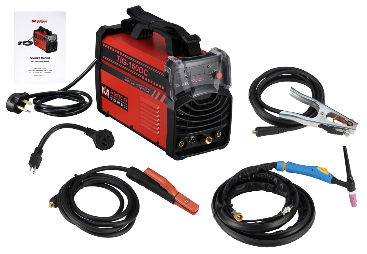 Click here to buy Amico 160 Amp TIG Torch Stick Arc Welder 110 230V Dual Voltage Input Welding TIG-160DC.