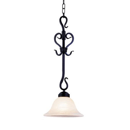 New Product ELK Lighting The Buckingham 1 Light Pendant In Matte Black And White Faux Marble Glass 251-BK Sold By VaasuHomes