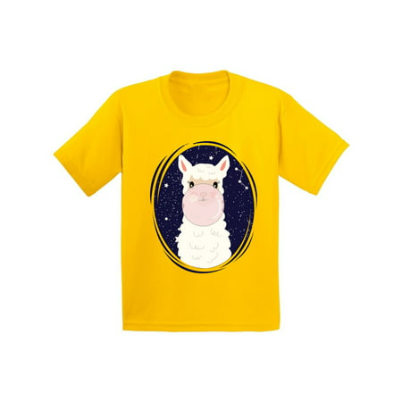 Awkward Styles Llama Youth T-shirts Llama Birthday Party Shirts for Kids Fourth Birthday Gifts Fifth Birthday Gifts Cute Llama Tshirt for Boys Girls Funny Llamma Kids T-shirt for 3 4 5 Years (Christmas Gifts For 3 Year Old Girl)