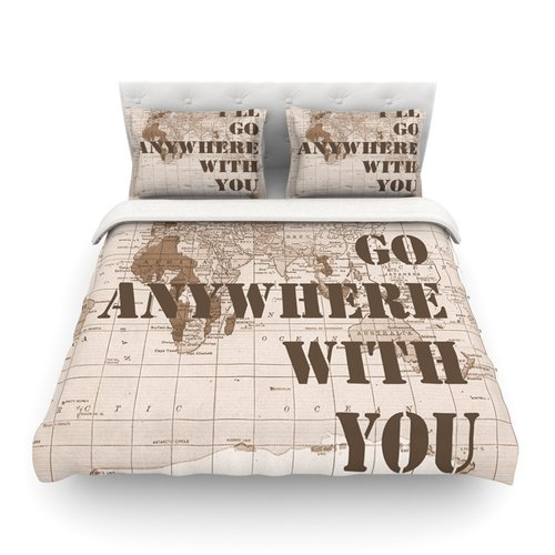 East Urban Home I'll Go Anywhere with You Catherine Holcombe Featherweight Duvet Cover