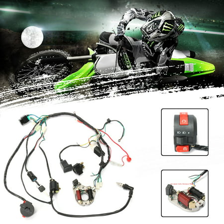 Motocross Universal CDI Starter Harness Set 1 Set 50 70 90 110CC CDI Wire  Harness Assembly Wiring Kit ATV Electric Start QUAD (Only Fit For 2