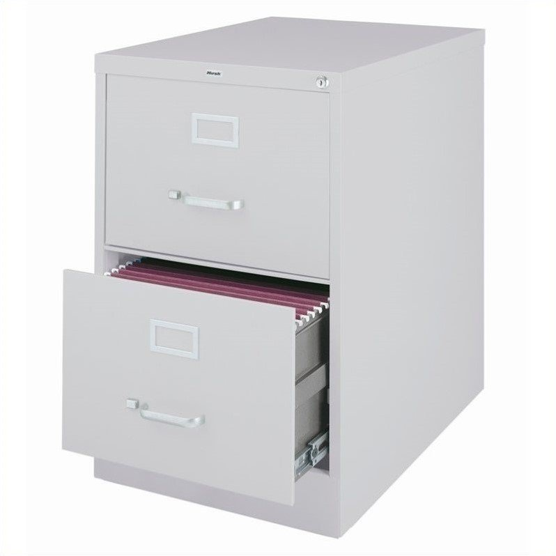 Hirsh Industries 3000 Series 2 Drawer Legal File Cabinet In Gray