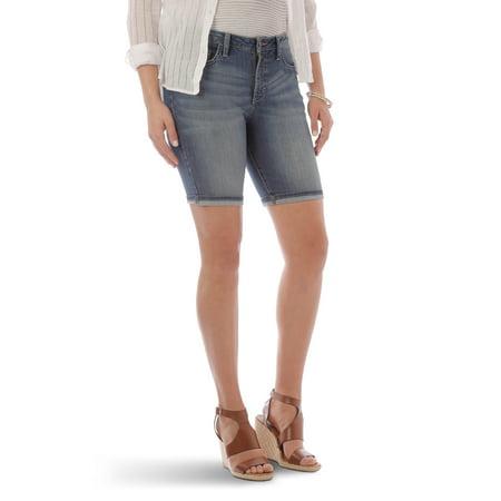 Women's Denim Cuffed Bermuda Short