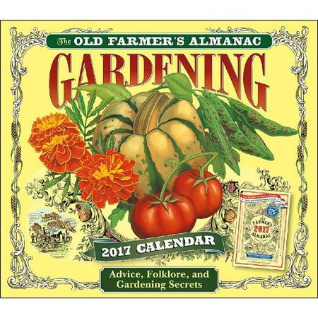 Gardening Old Farmers Almanac Desk Calendar