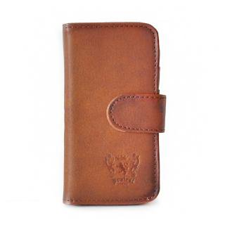 Pratesi Italian Leather Mod. iPhone 5 - cod. 091 - Brown,