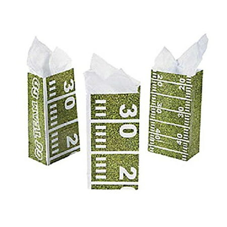 Football Field Treat Bags (One Dozen)Party Supplies/Tailgating/TreatBags/Party favors - Football Field Supplies