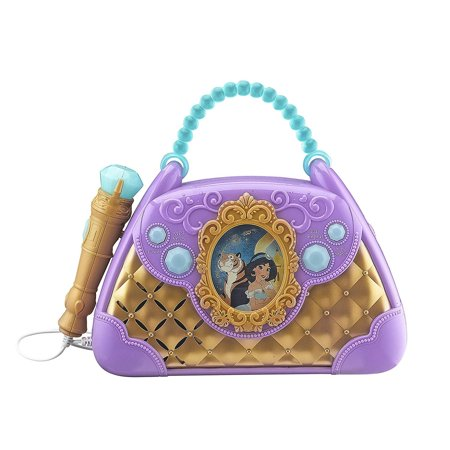 Disney Aladdin Sing Along Boombox with Real Working Microphone Built in Music and Can Connect to MP3 Player Disney Princess Cd Boombox