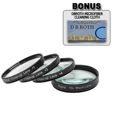 +1 +2 +4 +10 Close-Up Macro Filter Set with Pouch For The Kodak Easyshare DX6490, DX7590, Z7590 Digital Cameras, Enables macro photography using a.., By Digital