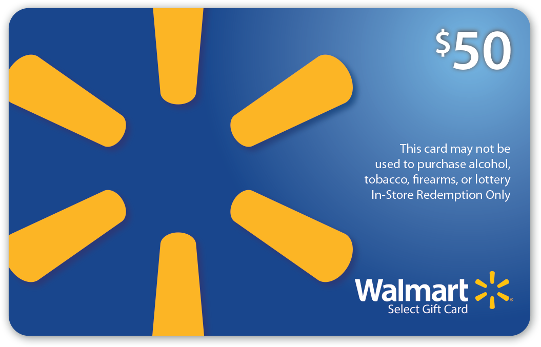 Charitable $50 Walmart Gift Card (Alcohol/Tobacco/Lottery/Firearms