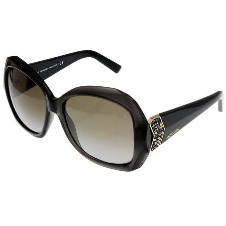 Swarovski Sunglasses Gray Womens CAPRI SW 34 20F Rectangular Size: Lens/ Bridge/ Temple: (Swarowski Sunglasses)