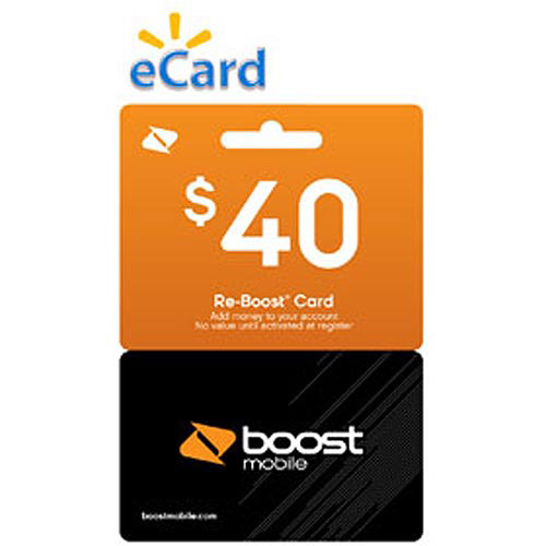 Boost Mobile $40 Re-Boost Card (Email Delivery)
