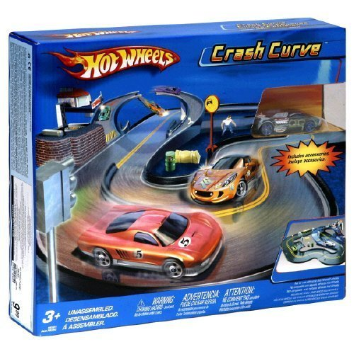 Hot Wheels Extreme Heat Crash Curve Track Set