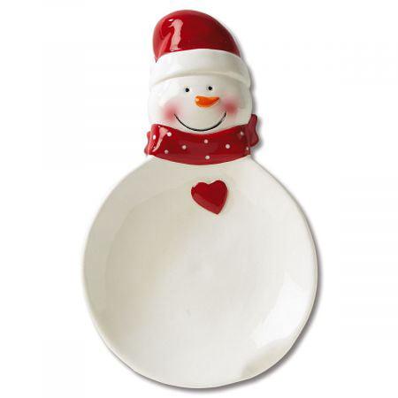 Snowman Spoon Rest- Ceramic Christmas Spoon Rest Christmas Tree Spoon Rest