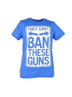 382974800e1511 Product Image Urban Pipeline They Cant Ban These Guns Funny Blue Graphic  Tshirt Tee Men XLarge