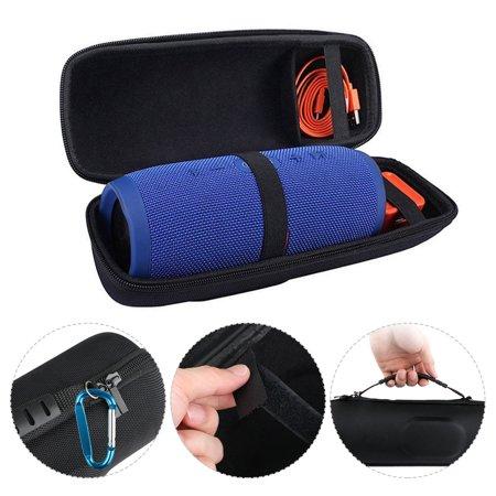 EVA Hard Storage Case, TSV Portable Carrying Bag Travel Bag Protector for JBL Charge 4 Speaker (Black)