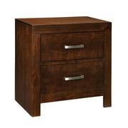 Standard Furniture Metro 2 Drawer Nightstand in Dark Merlot