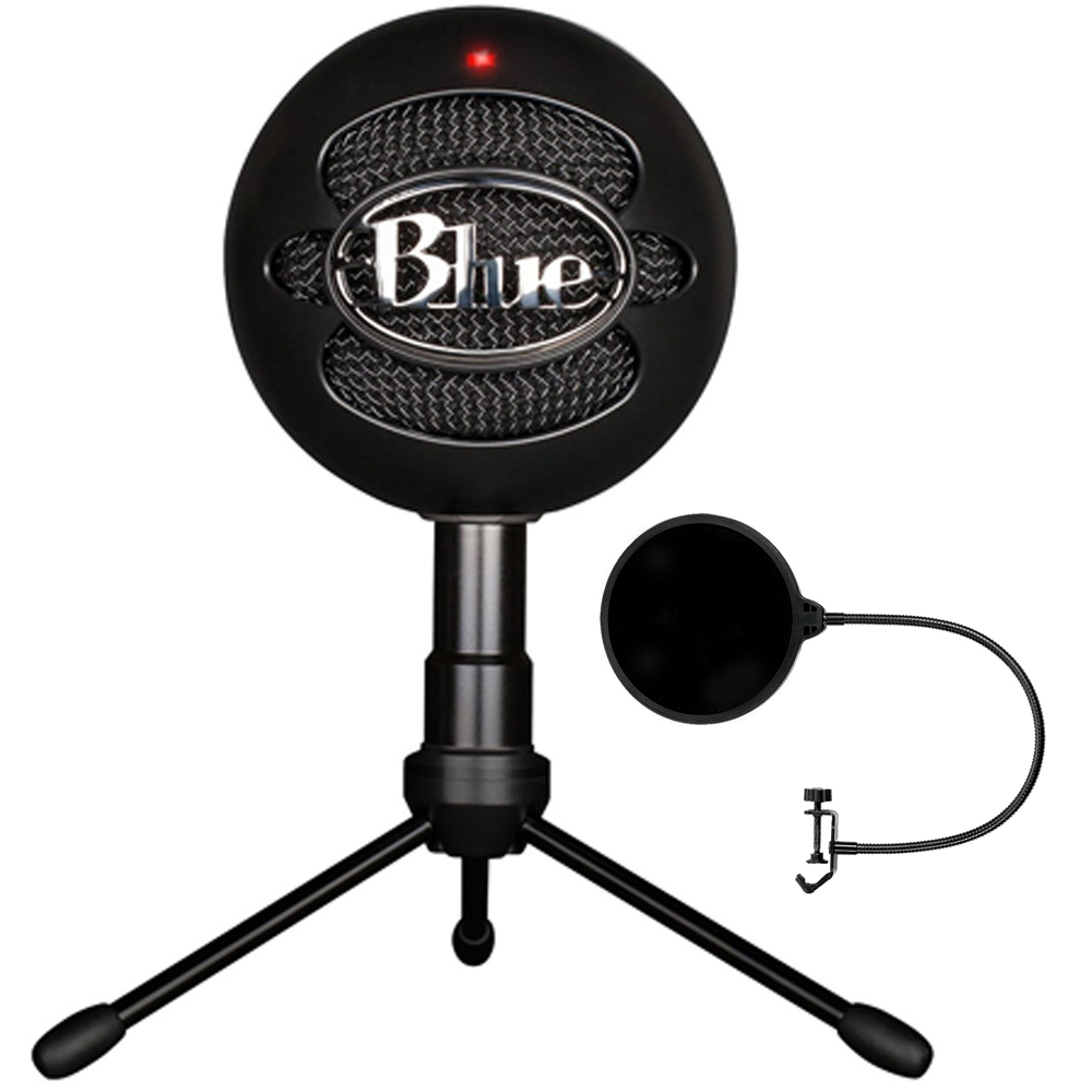 Blue Microphones Snowball iCE Versatile USB Microphone Black (SNOWBALL iCE Black) with Pop... by Blue Microphones