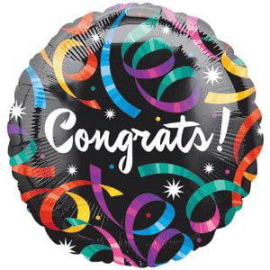 18 Inch Congrats Streamers VLP Mylar - Mylar Streamers