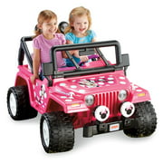 power wheels disney minnie mouse jeep 12 volt battery powered ride on
