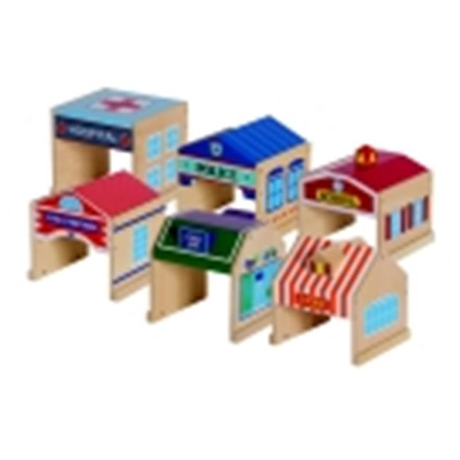 Guidecraft Community Building Block Set