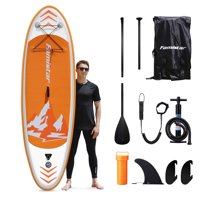 Deals on Famistar 8-ft7-in Inflatable Stand Up Paddle Board SUP w/3 Fins