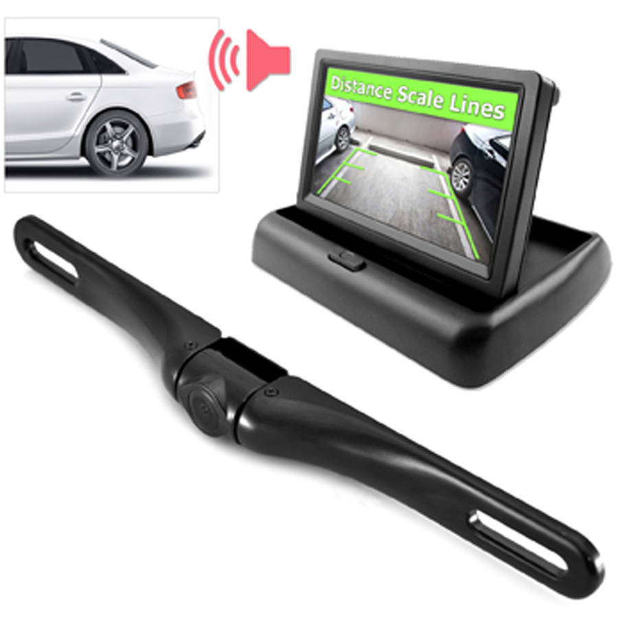 NEW Pyle PLCMTR70 Rearview Backup Camera//Video Monitor System  Waterproof Angle
