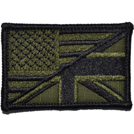 British Union Jack / USA Flag - 2x3 Patch