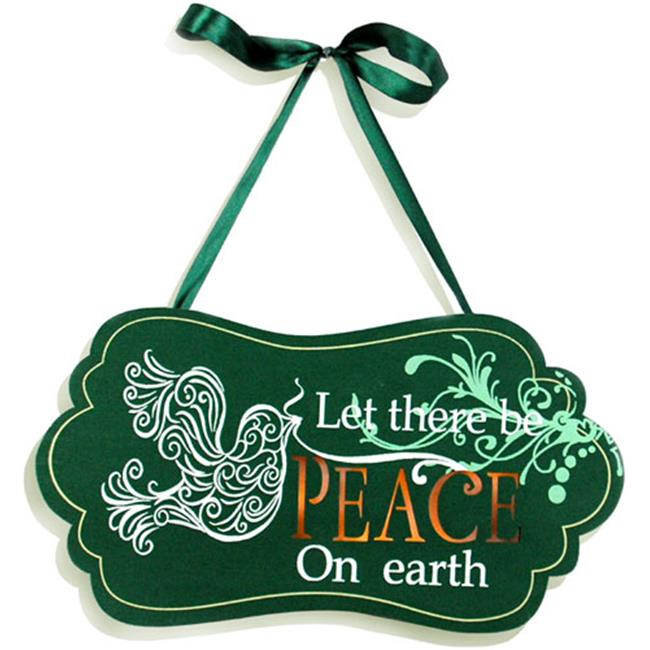 Unison Gifts MNA-108 12 In. Light Up Wide Oval Dove Plaque - Green, Peace