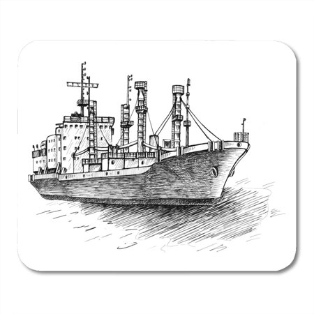 NUDECOR Charter Board Cargo Ship Reefer Forwin Original Drawings Cape Mousepad Mouse Pad Mouse Mat 9x10 inch - image 1 of 1