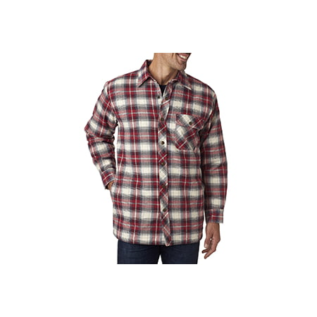 Backpacker Men's Flannel Shirt Jacket with Quilt Lining ...