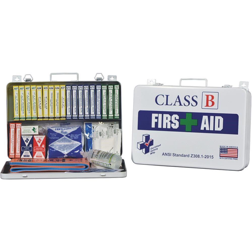 CERTIFIED SAFETY MFG Class B First Aid Kit K615-019