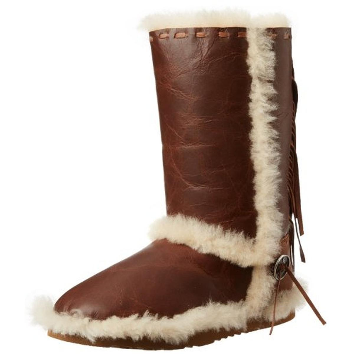 Koolaburra Womens Targan Leather Mid-Calf Moccasin Boots by Koolaburra