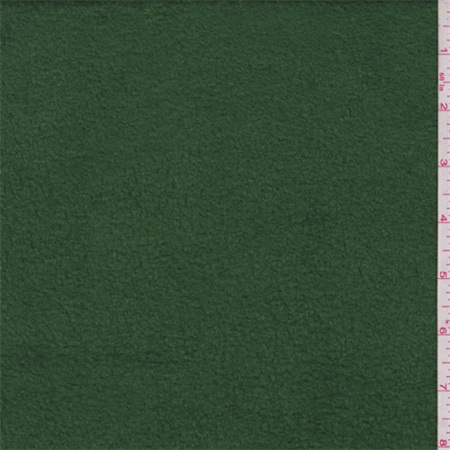 Grass Green Polyester Fleece, Fabric By the Yard