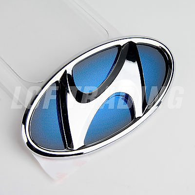 Hyundai Sonata Hybrid Chrome/Blue Front Emblem GENUINE OEM 86300 4R000