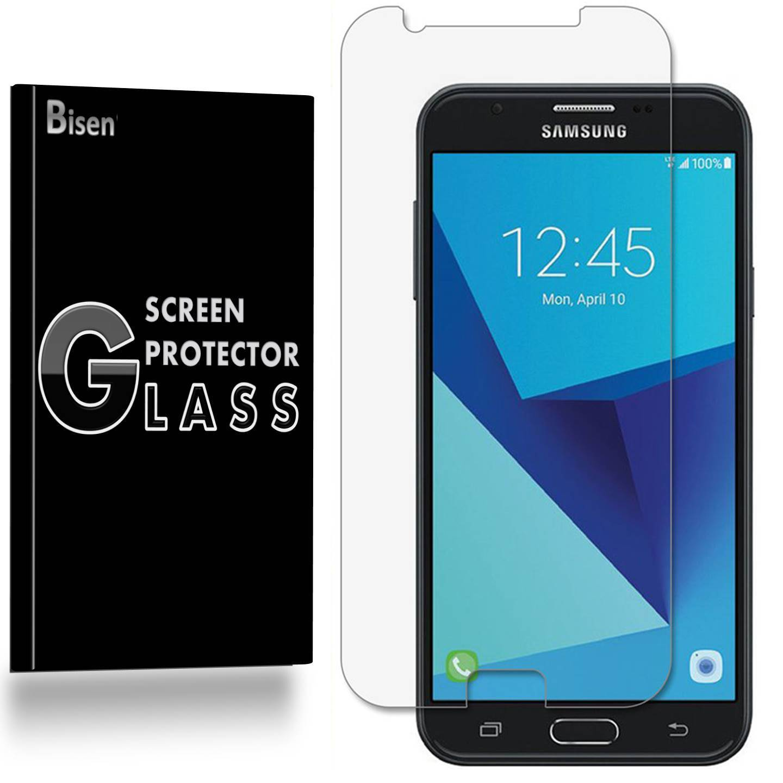 Samsung Galaxy J7 Prime / J7 (2017) [BISEN] 9H Tempered Glass Screen Protector, Anti-Scratch, Anti-Shock, Shatterproof, Bubble Free