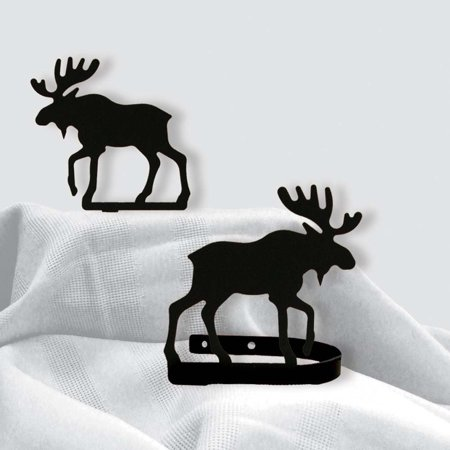 5 Inch Moose Curtain Tie Backs, Perfect gift for those that love wall decoration By Village Wrought -