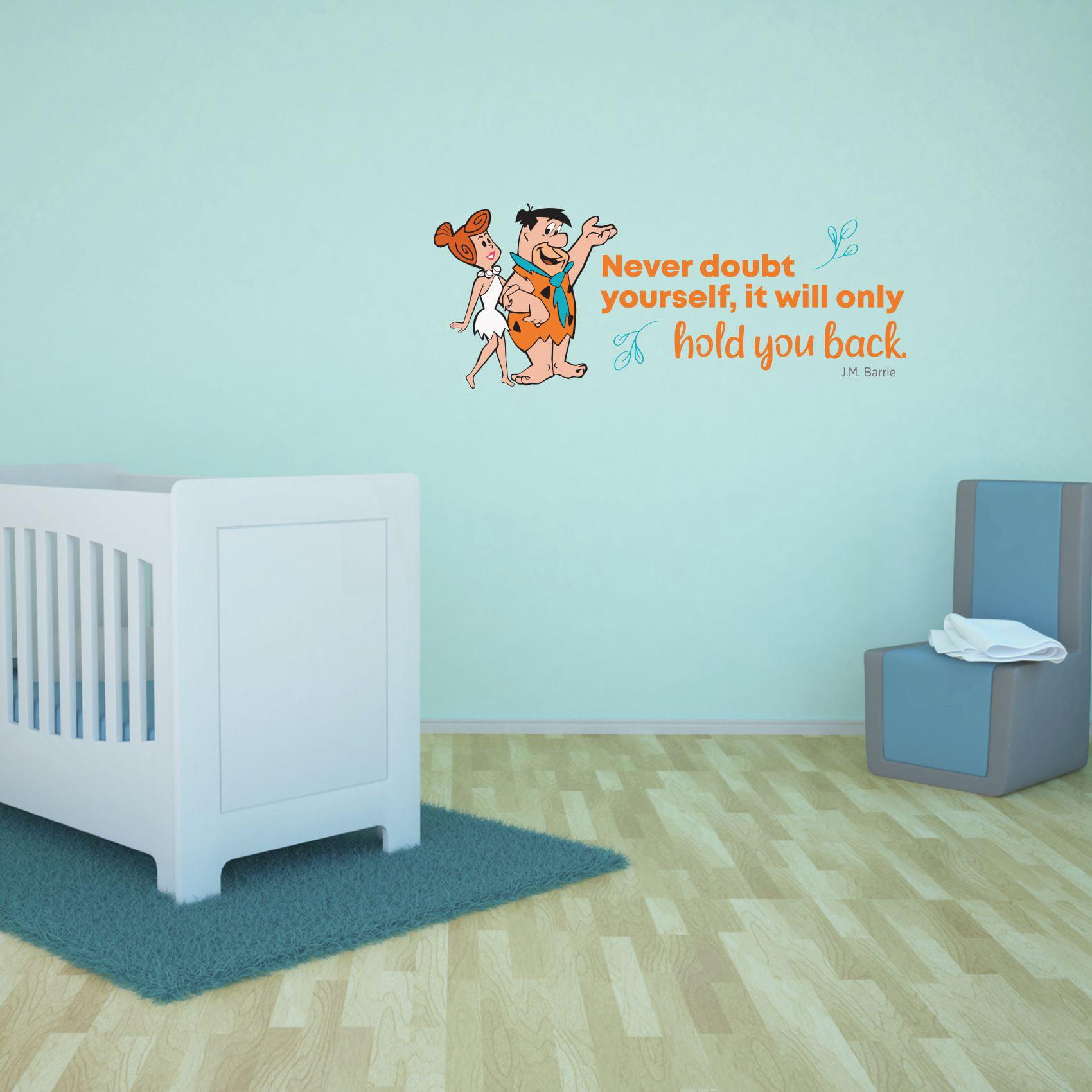 Never Doubt Flintstones Life Quote Cartoon Quotes Decors Wall Sticker Art Design Decal For Girls Boys Kids Room Bedroom Nursery Kindergarten Home Decor Stickers Wall Art Vinyl Decoration 12x20 Inch Walmart Com