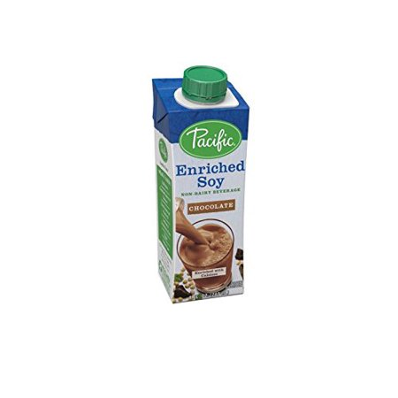 Pacific Foods Enriched Soy Milk Non-Dairy Beverage, Chocolate, 8 fl oz, 24