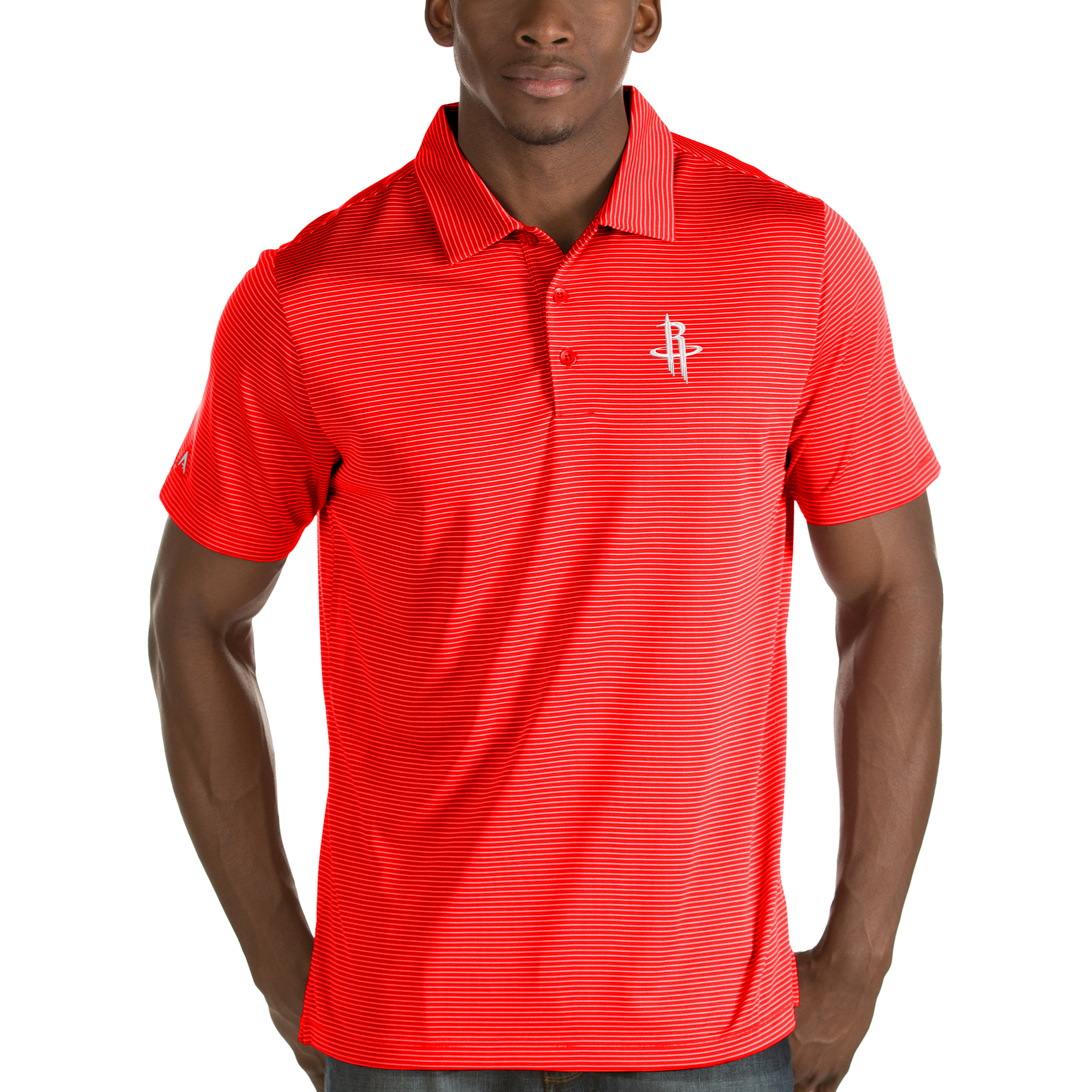 Houston Rockets Antigua Quest Polo - Red