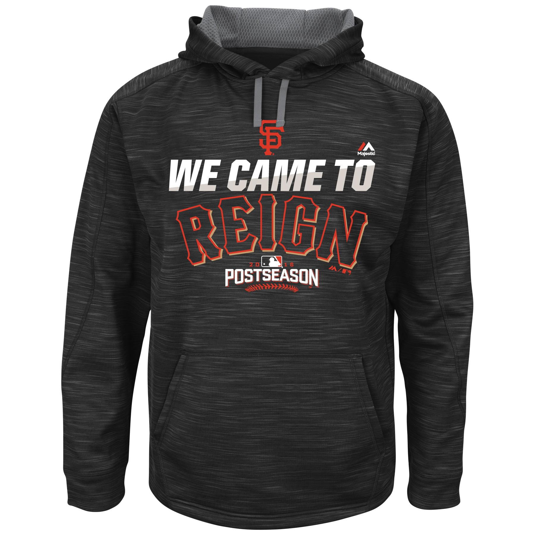 San Francisco Giants Majestic 2016 Postseason Big & Tall We Came To Reign Streak Fleece Hoodie - Black