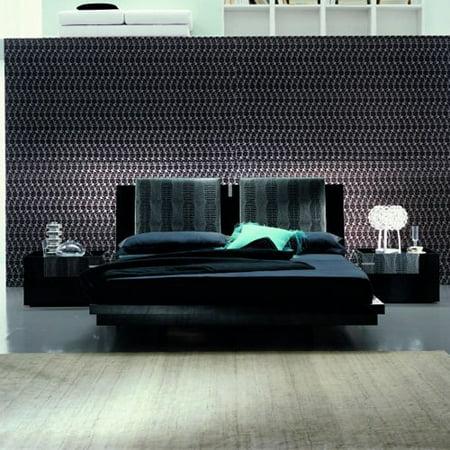 Rossetto Black Diamond Leather Platform Bed 901 Product Photo