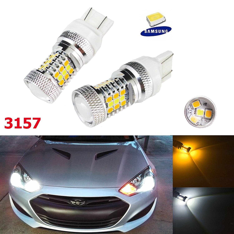 Amber Max 100W CREE 3156 3157 LED Bulbs For Turn Signal Backup DRL Lights Xotic Tech Direct 2