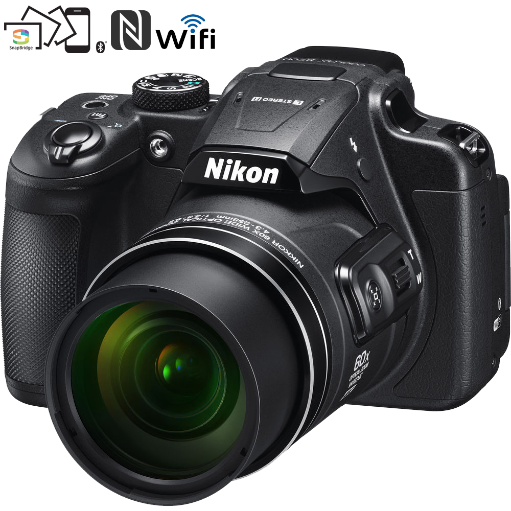 Nikon COOLPIX B700 20.2 MP 60x Opt Zoom Super Telephoto NIKKOR Digital Camera (Black) 26510B - (Certified Refurbished)