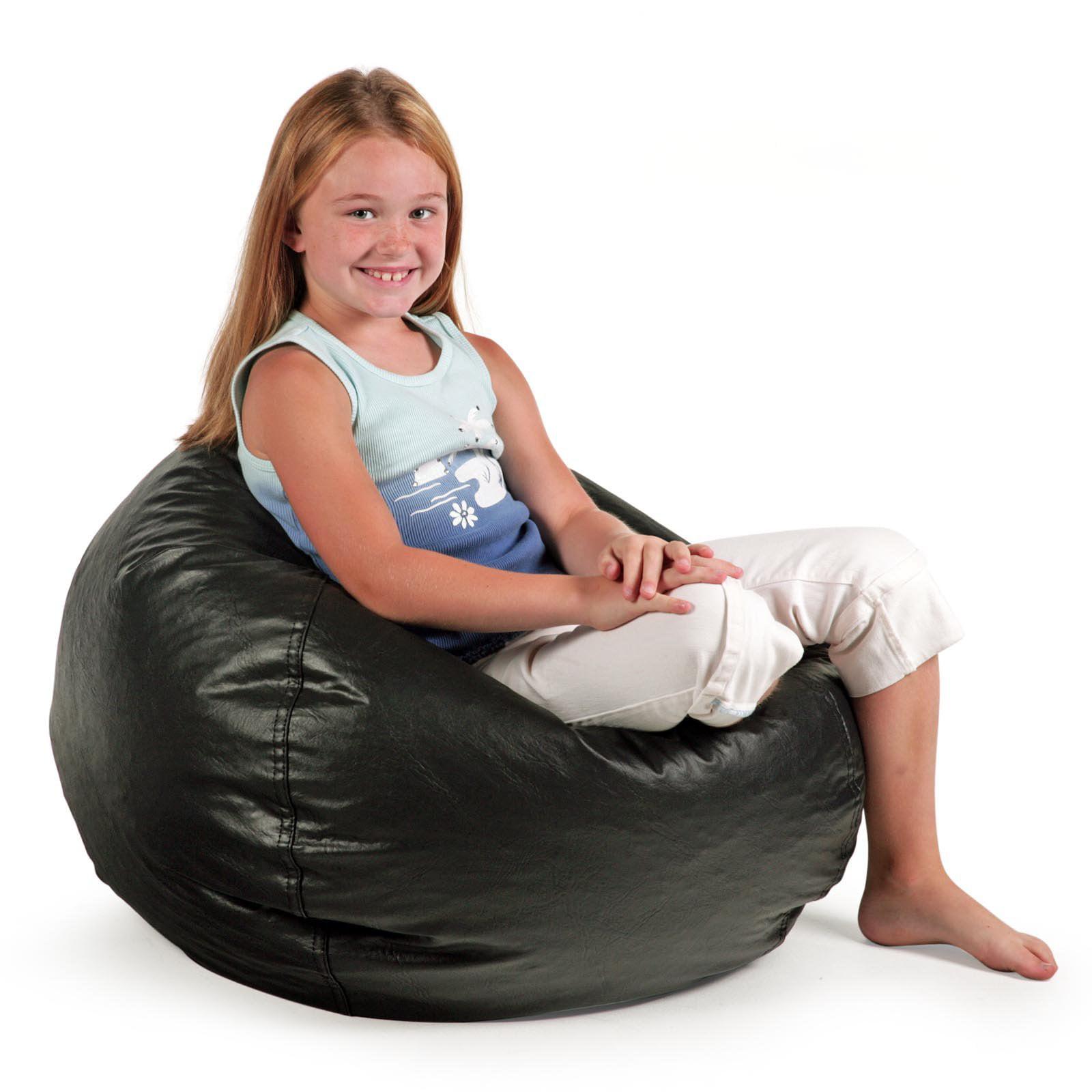 Small Standard Vinyl Bean Bag Chair   Walmart.com