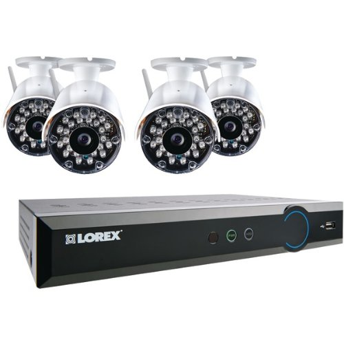 Lorex Wireless Security Camera System - Camera, Digital Video Recorder - H.264 Formats - 1 Tb Hard Drive - 240 Fps - 640 X 480 - Composite Video In - Composite Video Out - 2 - 1 - 1 - (lh03081tc4w_7)