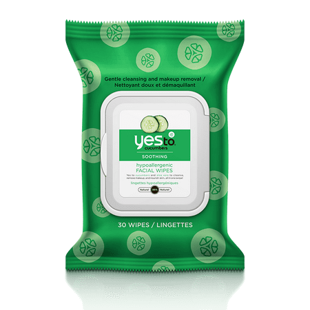 1ce1635936a Yes To Cucumbers Soothing Facial Wipes Hypoallergenic Wet Wipes 30 Ct -  Walmart.com